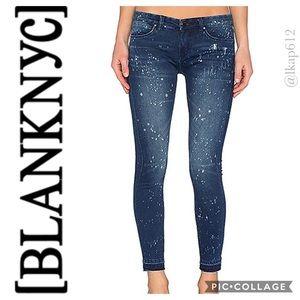 NWOT BLANKNYC  Paint Splatter Crop Skinny Jeans
